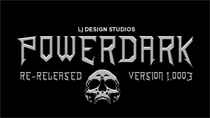 PowerDark Font skull poster