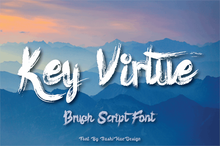 Key Virtue Font poster