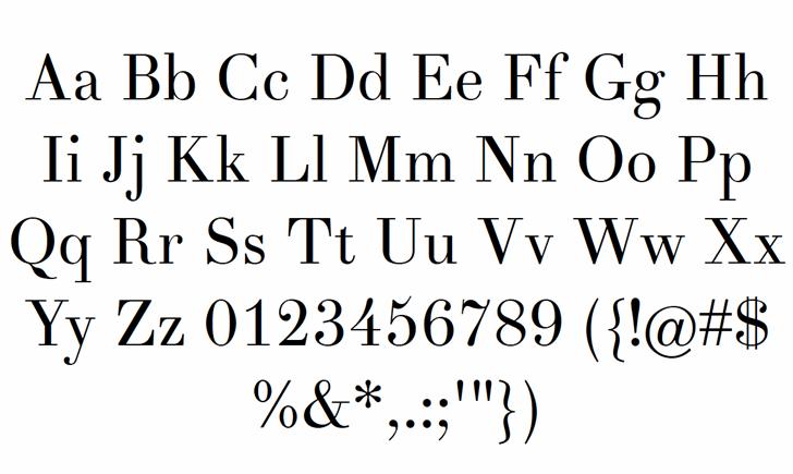 Theano Didot Regular Font Letters Charmap