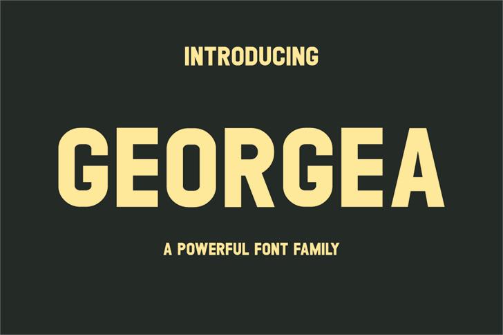 GEORGEA Font design screenshot