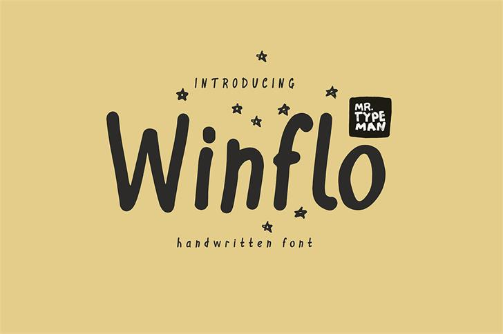 Winflo font by Mr. Typeman - FontSpace