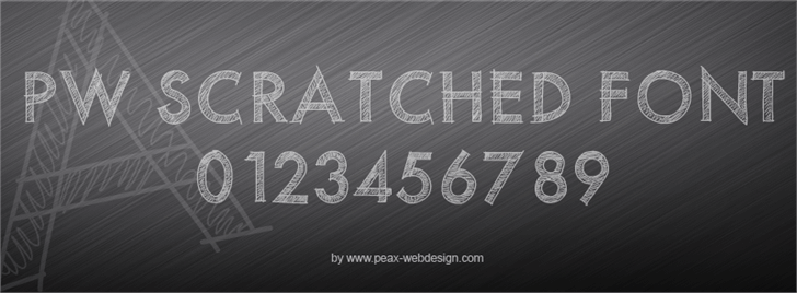 PWScratchedfont screenshot design