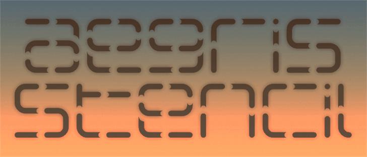 Aegris Stencil font by Pixel Kitchen