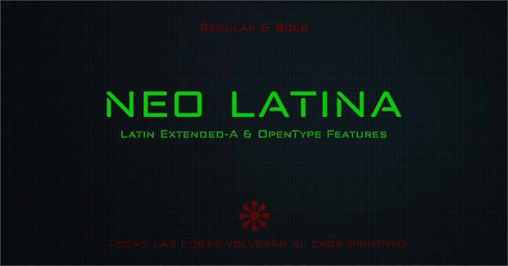 neo latina font by deFharo