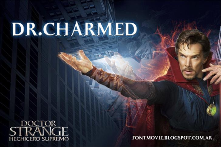 Dr.Charmed Font poster person