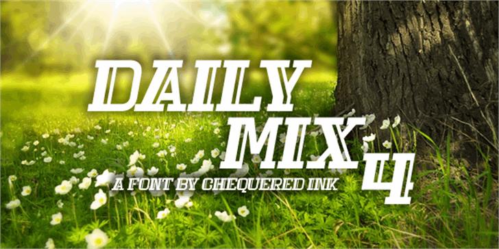 Daily Mix 4 Font tree