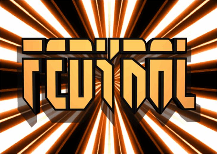 Fedyral Font abstract screenshot