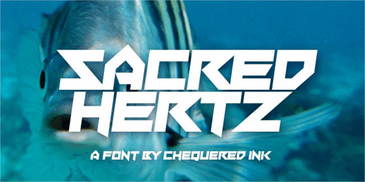 Sacred Hertz Font screenshot design