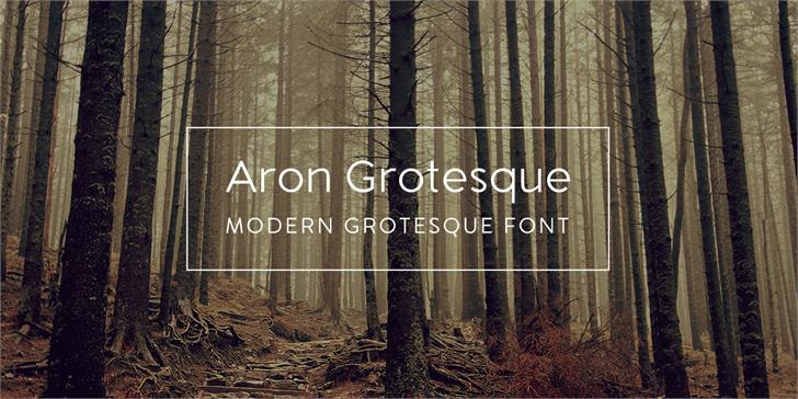 Aron Grotesque Font tree book