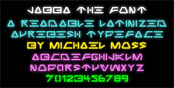Jabba the Font screenshot font
