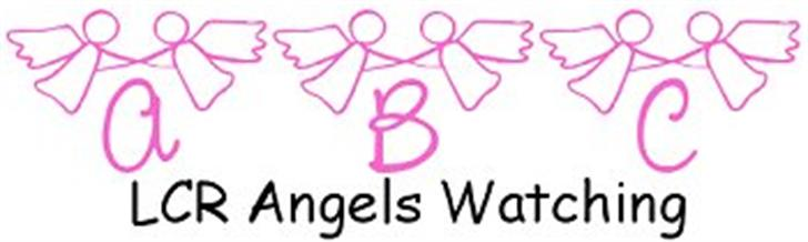 LCR Angels Watching Font design drawing