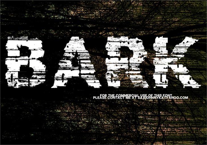 BARK Font art poster