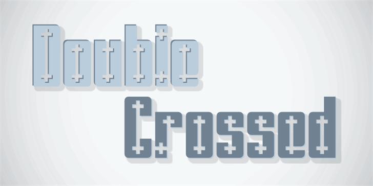 Double Crossed Font design
