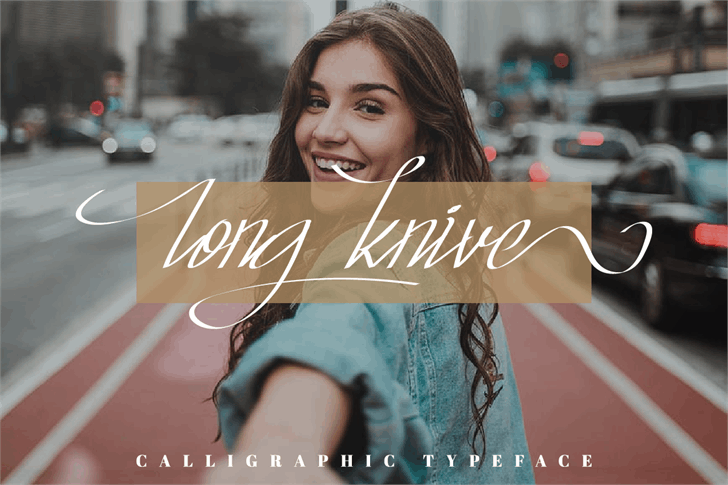 Long Knive Font girl smiling