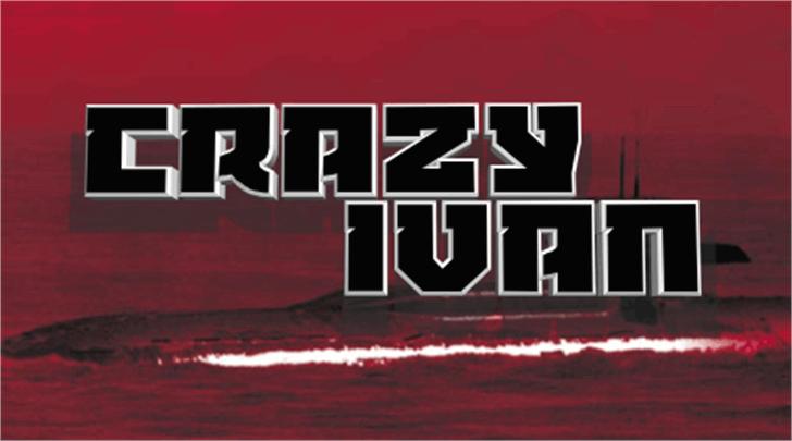Crazy Ivan Font red poster