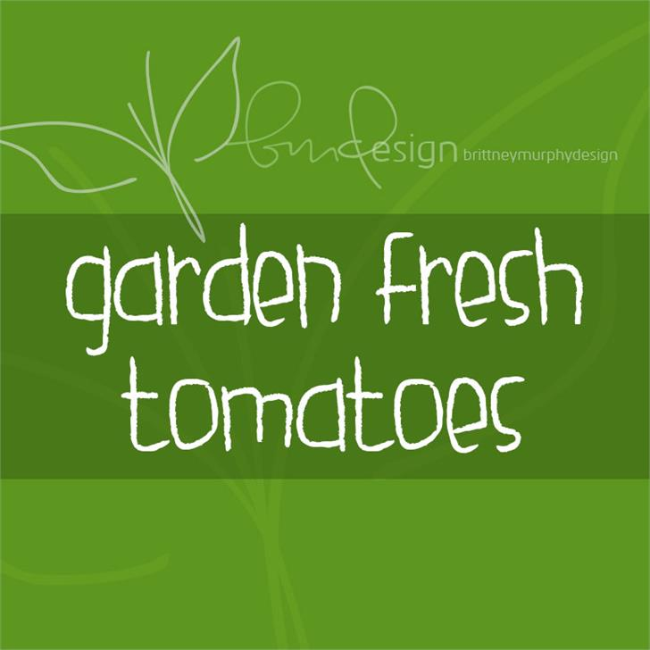 garden fresh tomatoes Font design screenshot