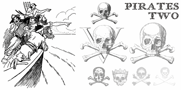 Pirates Two Font text sketch