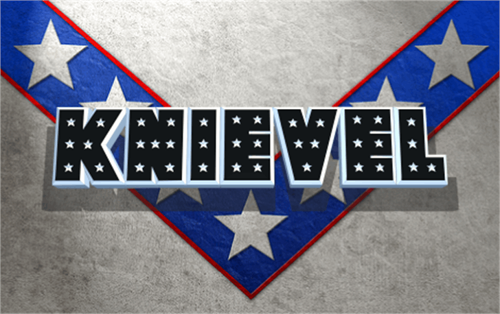 Knievel Font flag flag of the united states