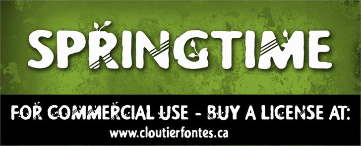 CF Springtime Demo Font plate poster