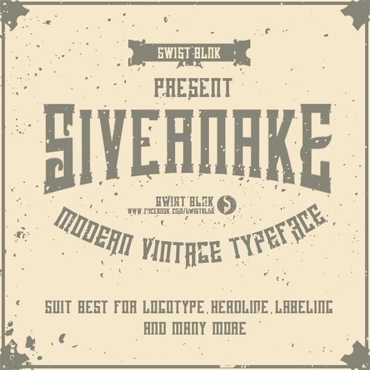 Sivernake Font poster illustration