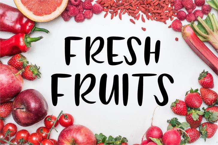 FRESH FRUITS font by FanaStudio