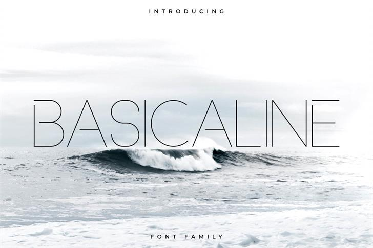 Basicaline font by RC graphics
