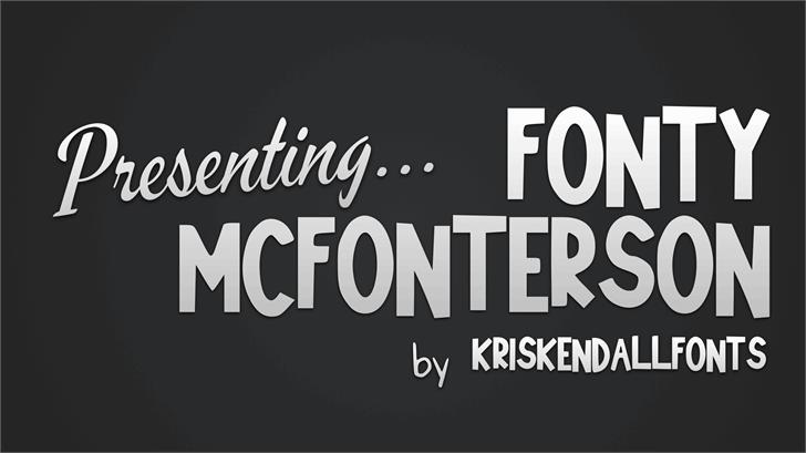 Fonty_McFonterson Font design text