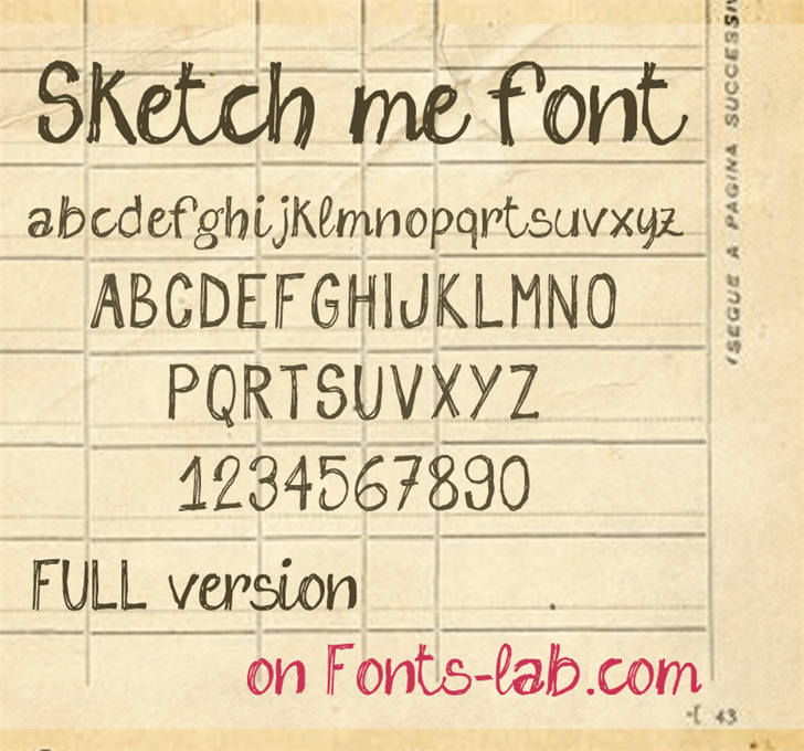 sketch me_FREE-version font by FontsCafe