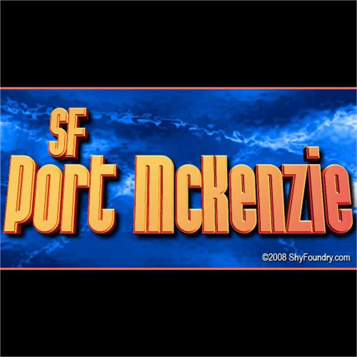 SF Port McKenzie Font screenshot text