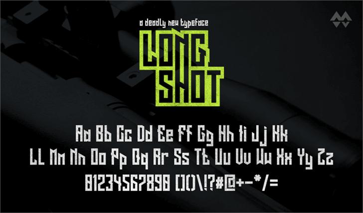 Long Shot Font screenshot design