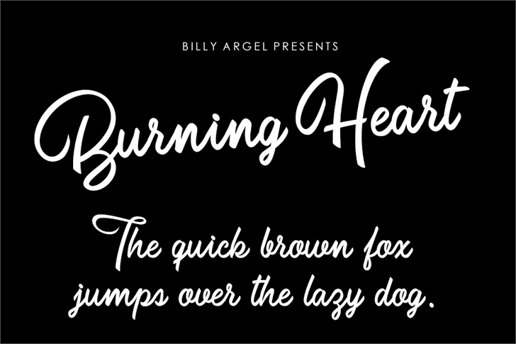 Burning Heart Personal Use Font text typography