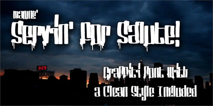 Servin' For Salute Font poster screenshot