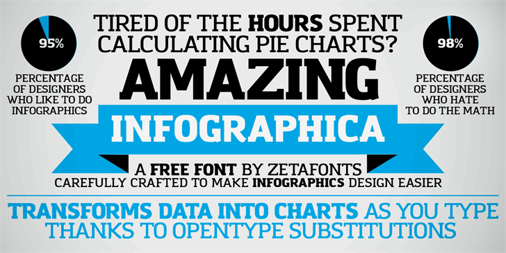Amazing Infographic@ Font screenshot text