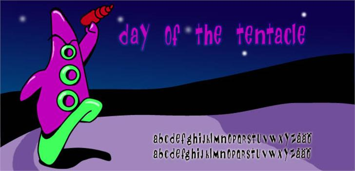 Day Of The Tentacle font by Fontomen
