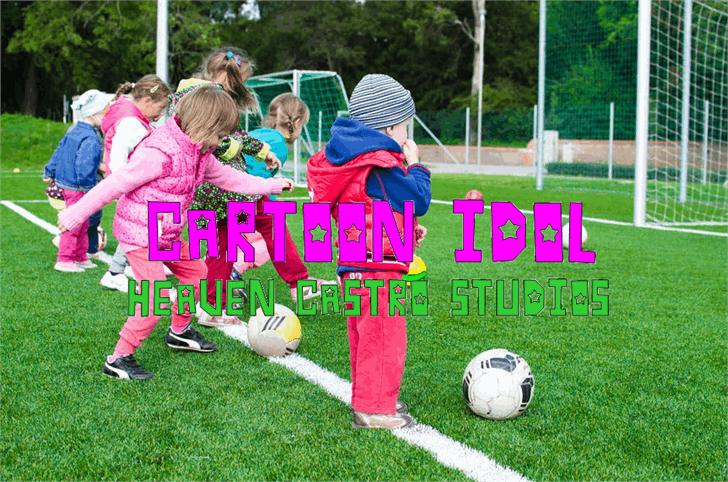 CARTOON IDOL Font grass soccer