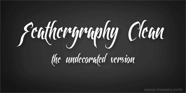 Feathergraphy Clean font by Måns Grebäck