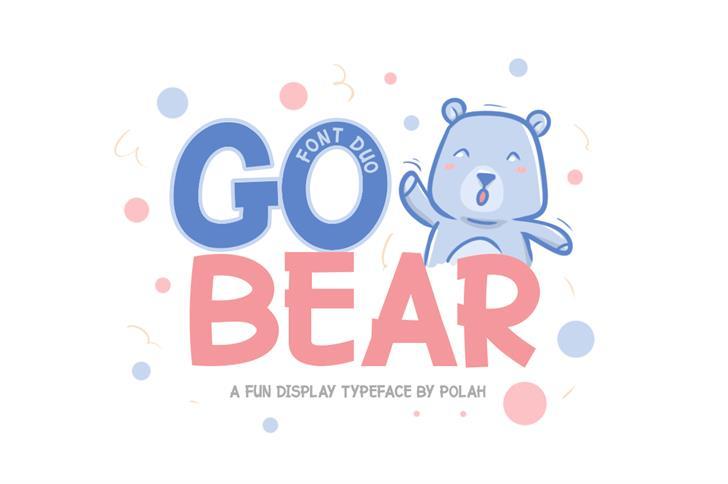 Go Bear Font cartoon design