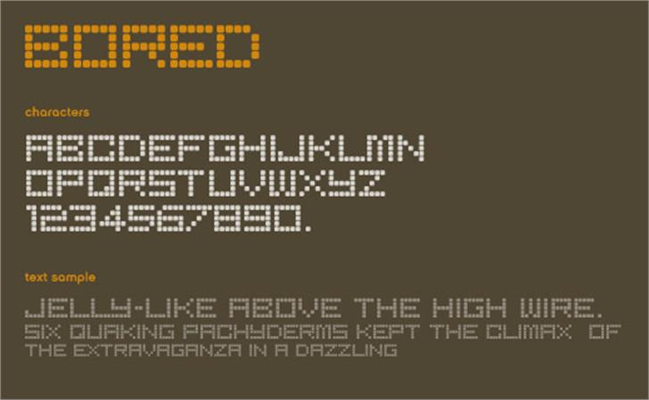 Bored font by Marc Clancy
