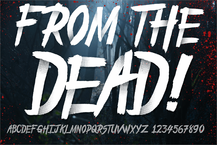 From_the_Dead Font poster text