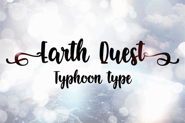 Earth Quest Font design text