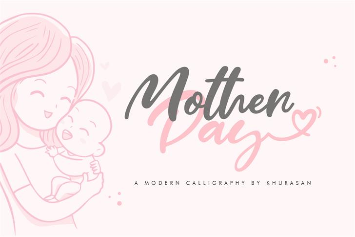 Mother Day Font design typography