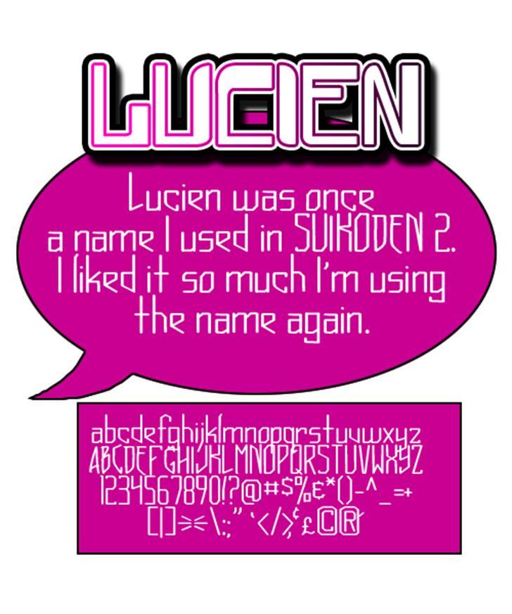Lucien Font text design