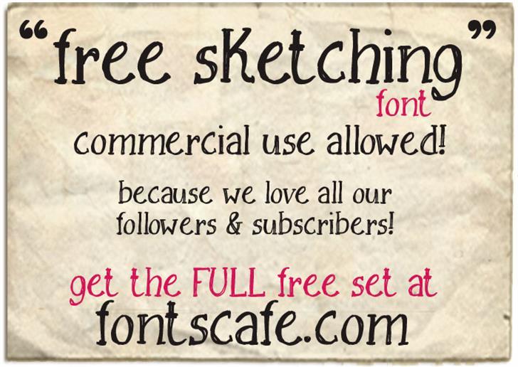 Free Sketching_free-demo Font text screenshot