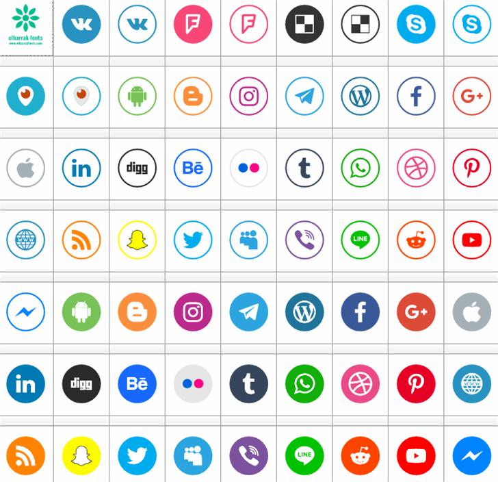 social media two Font screenshot colorfulness