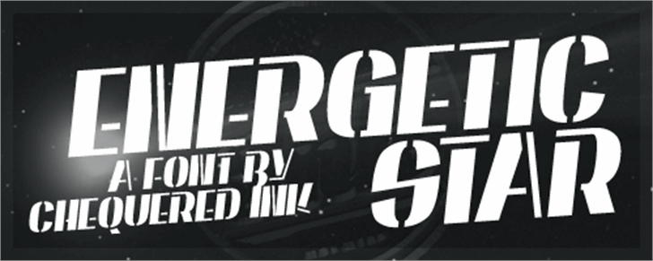 Energetic Star Font outdoor logo