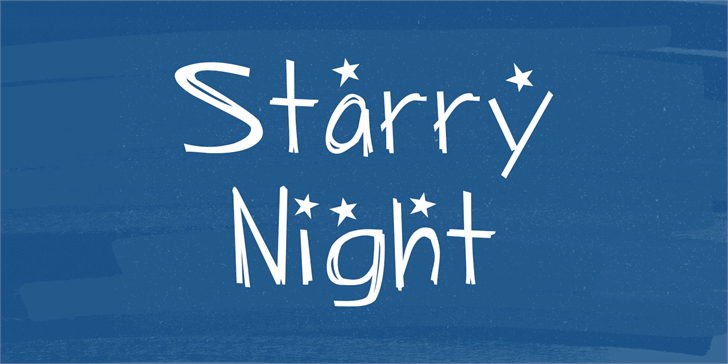 Starry Night Font typography design