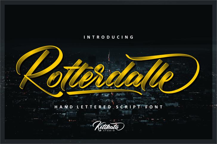Rotterdalle Personal Use font by ketikata std