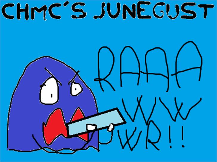 Junegust Font cartoon drawing