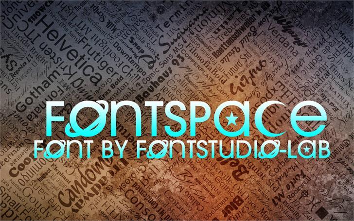 Fontspace Font text design