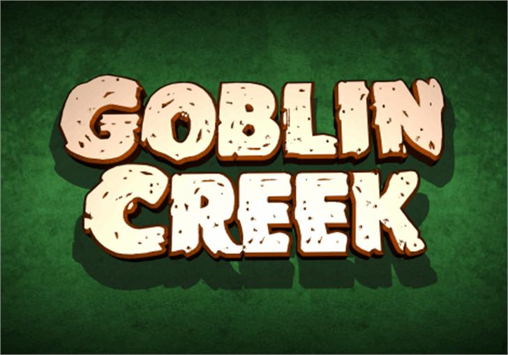 Goblin Creek Font cartoon gambling house
